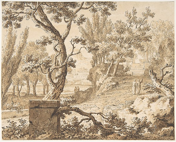 Arcadian Landscape with Figures