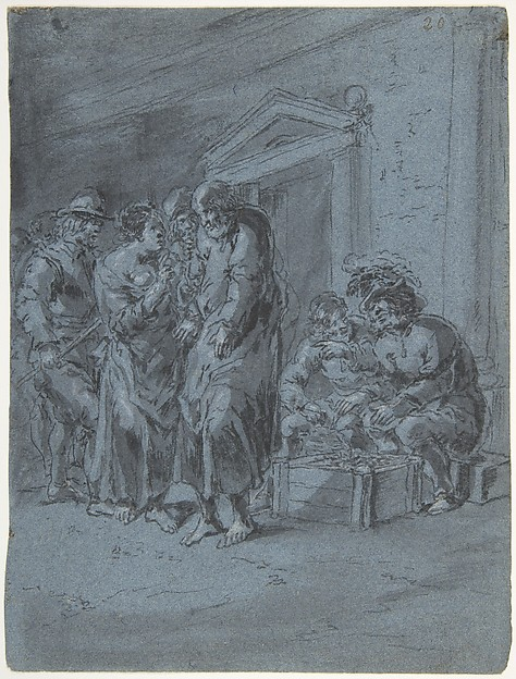 This is What Leonaert Bramer and St. Peter Recognized by a Servant Girl Looked Like  in 1611