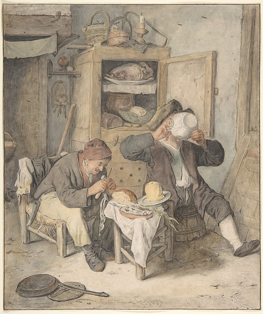 Fascinating Historical Picture of Cornelis Dusart with Kitchen Scene in 1687