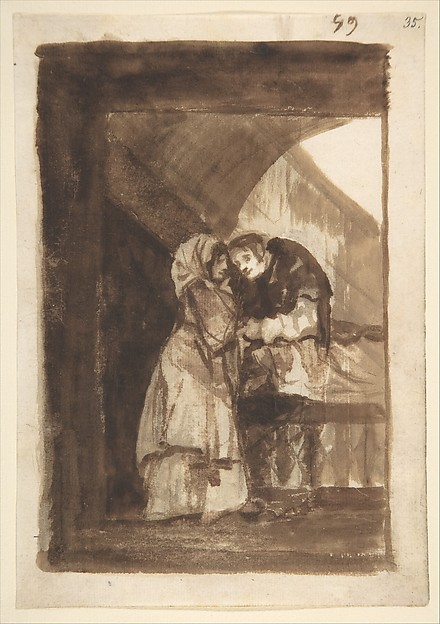A Woman Whispering to a Priest