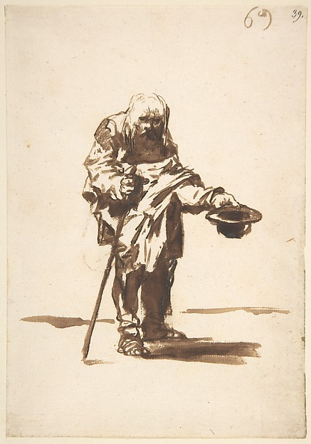 Beggar with a Staff in His Right Hand, from Images of Spain Album (F), 69