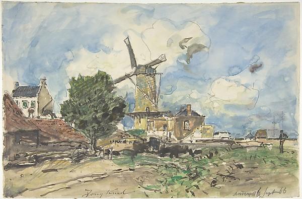 Wind Mill at Antwerp