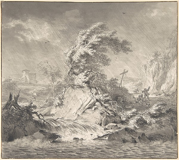 This is What Hendrik Meijer and Stormy Landscape Looked Like  in 1776