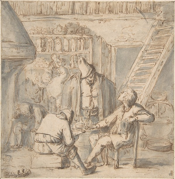 Drinkers in a Tavern