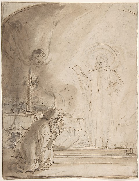 This is What Rembrandt and Zacharias and the Angel Looked Like  in 1606
