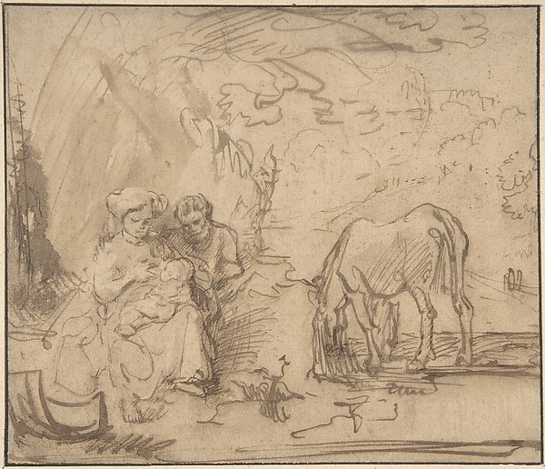 This is What Rembrandt and Rest on the Flight into Egypt Looked Like  in 1620
