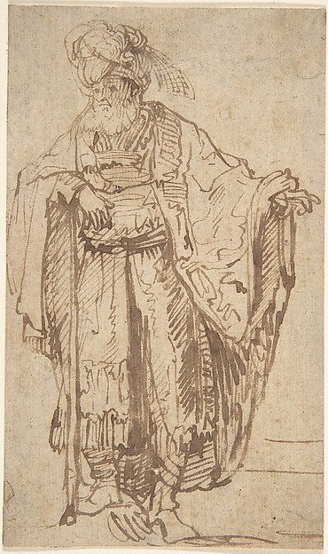 Standing Oriental Figure