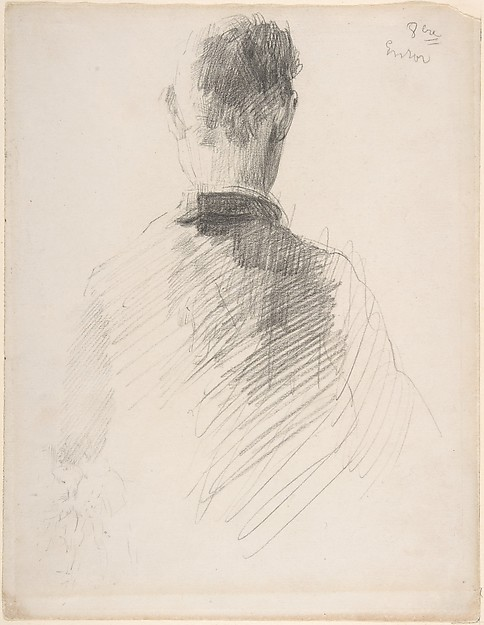A Man in a Jacket, Seen from the Back