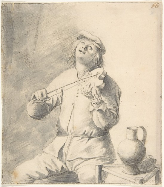 Man Playing The Violin