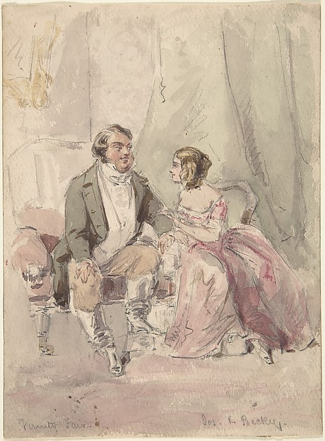 "Drawings for scenes from Vanity Fair: ""Jos and Becky"""