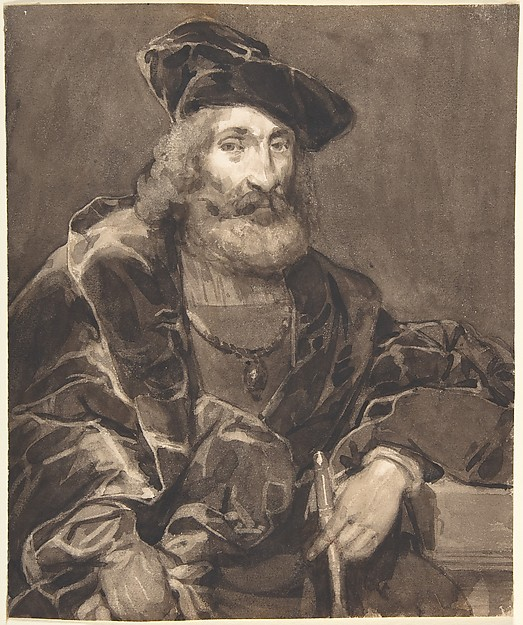 Half-length Portrait of a Bearded Man in Historical Dress