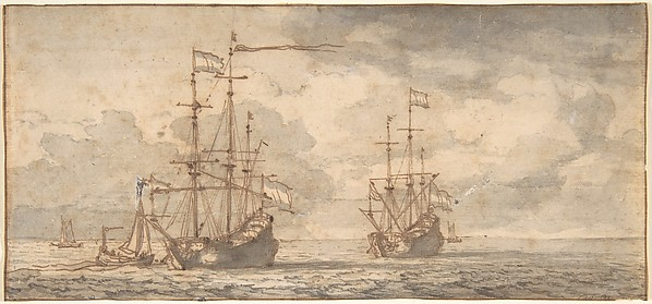 Dutch Ships at Anchor