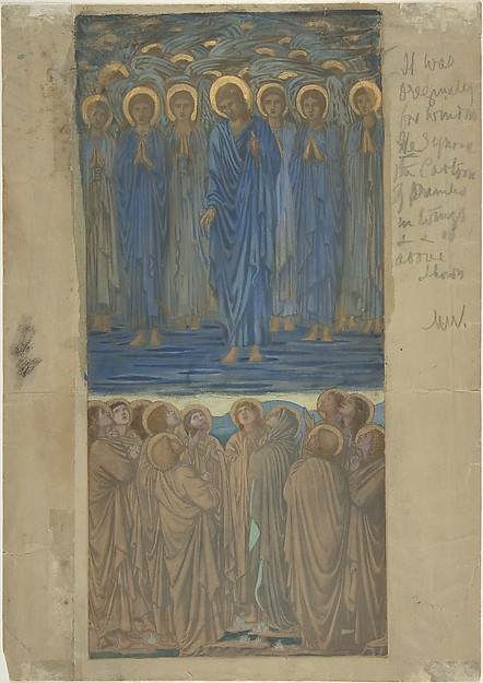 Ascension of Christ (Acts I, 1–9)  Study for stained-glass window