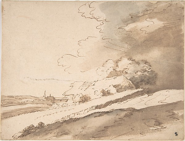 Landscape with Farm House and a Steeple in the Distance