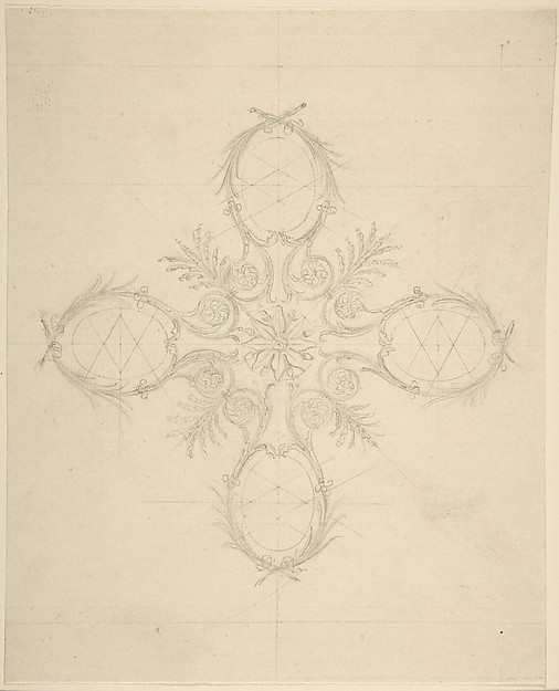 Fascinating Historical Picture of Sir William Chambers with Design in the Shape of a Cross in 1743