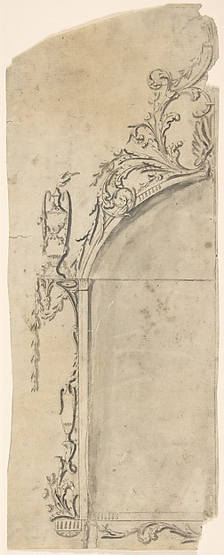 Fascinating Historical Picture of Sir William Chambers with Design for a Frame in 1743