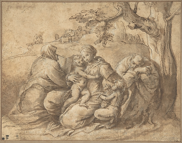 The Holy Family with Saint Elizabeth and the Infant John the Baptist
