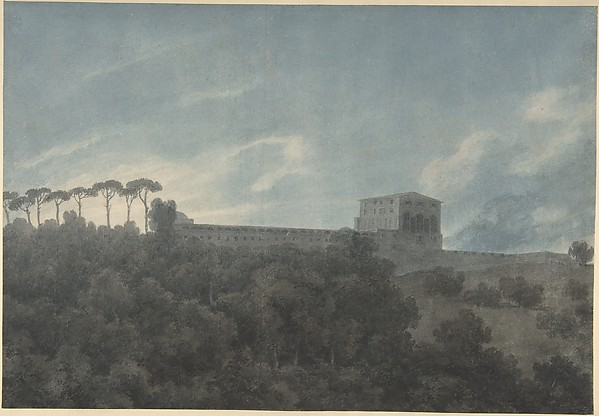View of the Villa Lante on the Janiculum in Rome
