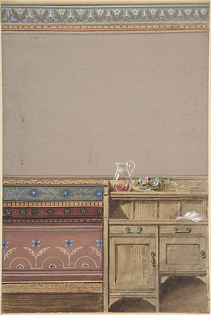 Elevation of a Dining Room Wall with Sideboard