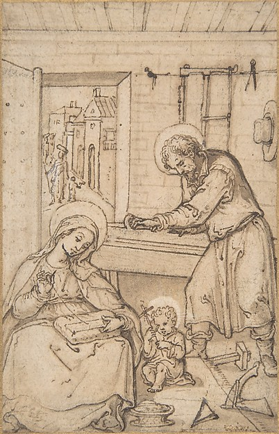 The Childhood of Christ, in the carpenter's shop