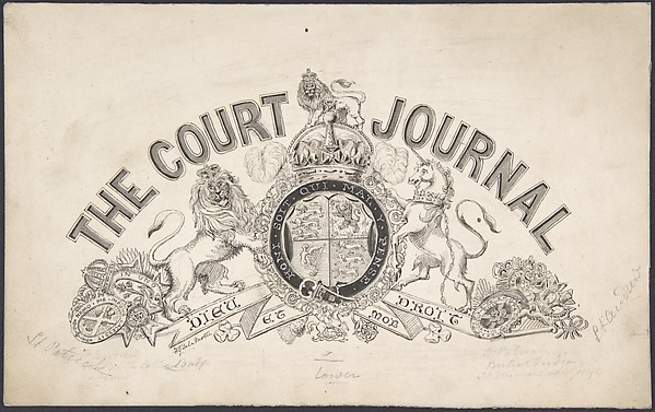 "Drawing for a Letterhead for ""The Court Journal"""