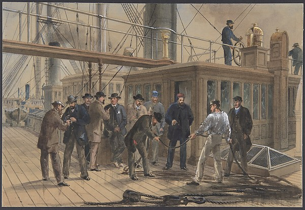 Searching for the Fault after Hauling Back the Cable from the Bottom of the Atlantic, July 31st, 1865