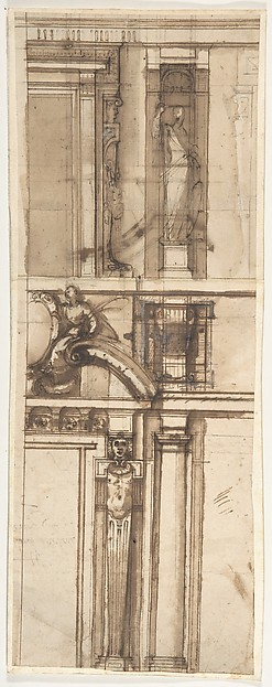 Design in Elevation for the Façade of a Building.