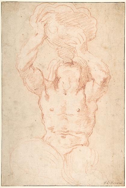 Study for a Triton (recto); Anatomical Studies ? (verso)