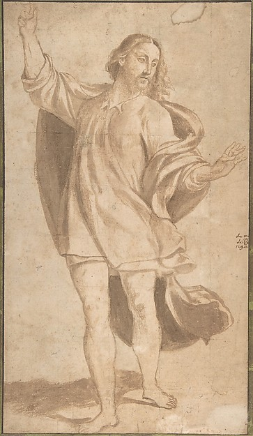 Standing Figure of Christ with Arms Upraised