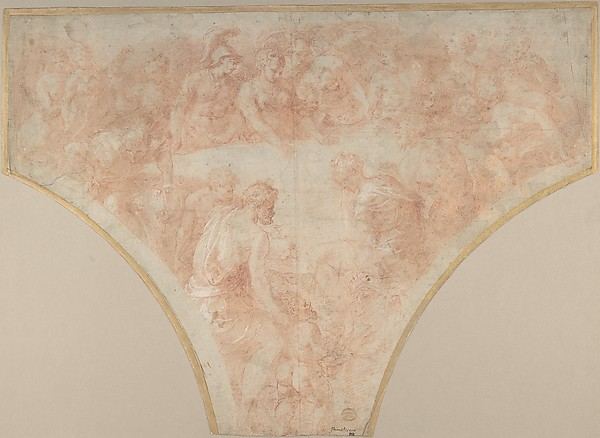 Apple of Discord Thrown by Eris at the Marriage of Peleus and Thetis: Study for Fresco in the Hall of Henri II at Fountainebleau