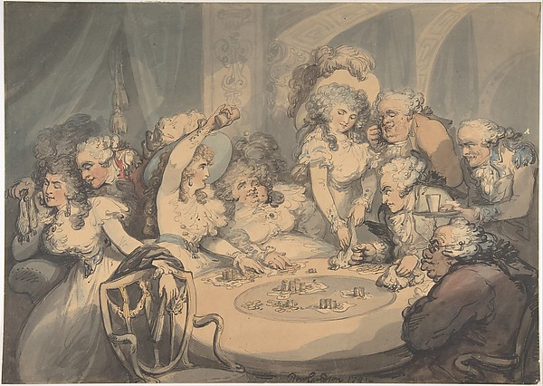 At the Gaming Table+Rowlandson