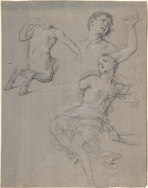 This is What Francesco Trevisani and Studies for the Figure of a Centaur and a Nymph Looked Like  in 1708