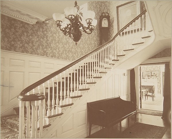 View of Main Staircase, Ernest Flagg's House, at Dongan Hills, S. I.