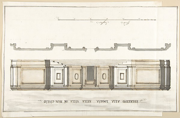 This is What Pietro Paolo Coccetti and Design for the Entrance of the Loggia of the Villa of Pope Julius Looked Like  in 1710