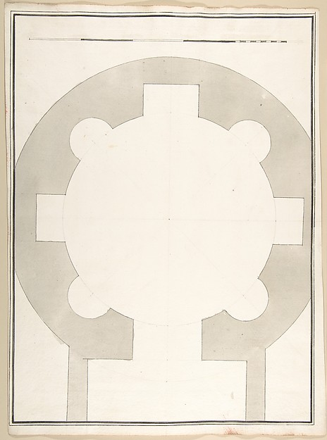 This is What Pietro Paolo Coccetti and Unlabeled Plan of the Tempio della Speranza (same Building as Accession Number 60.632.44) Looked Like  in 1710