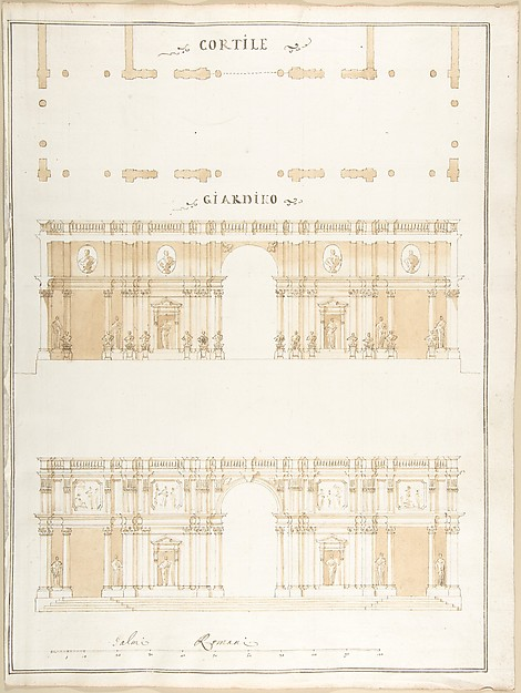 This is What Pietro Paolo Coccetti and Plan Section and Exterior Elevation of a Villa Looked Like  in 1710