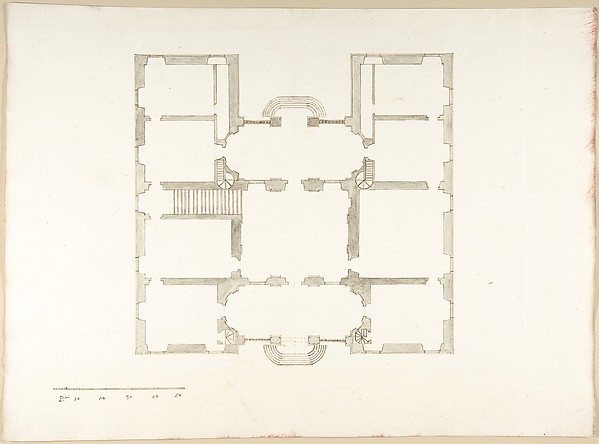 This is What Pietro Paolo Coccetti and Plan (Probably of the Building in Accession Number 60.632.62) Looked Like  in 1710