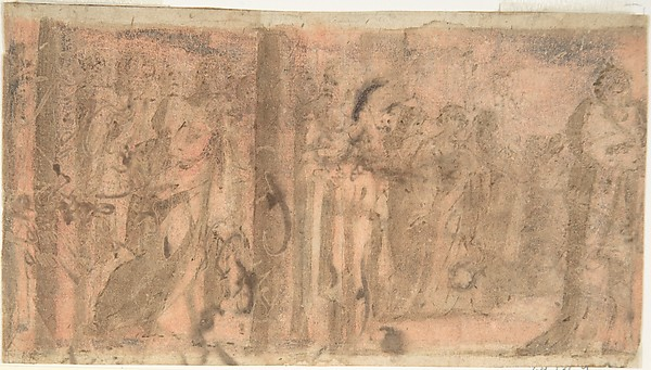 Study of a Scene of Martyrdom (recto); Study of Three Figures (verso)