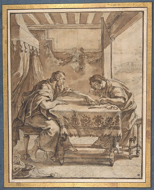 St. Paul Dictating at Ephesus