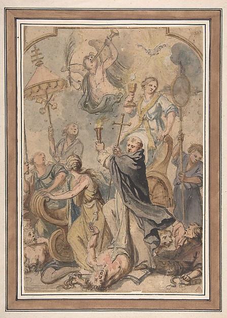 An Allegory of the Triumph over Heresy, with St. Domenic to the Fore