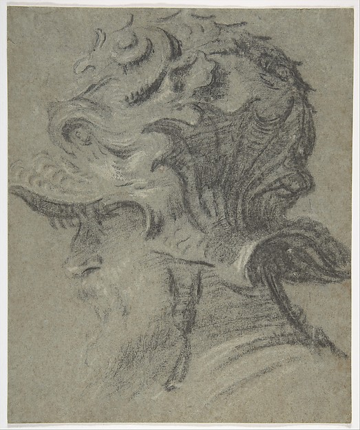 Study of a Bearded Man Wearing the Helmet of Guidobaldo II della Rovere, Duke of Urbino