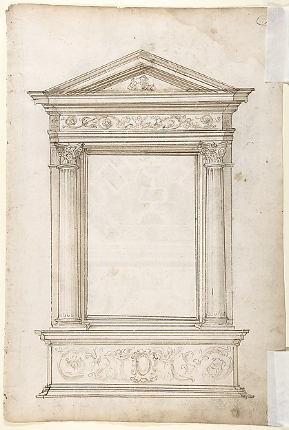 Design for an Octagonal Table and Top (Recto); Design for altar or tomb monument (Verso)