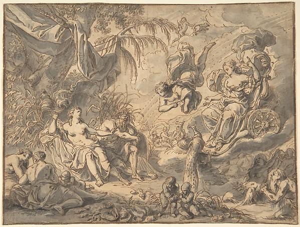 Mythological Scene with Juno