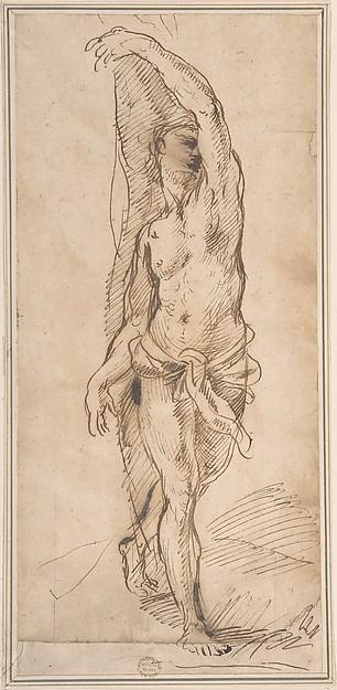 Nude Figure (Saint Sebastian?)