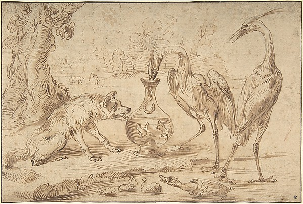 Fascinating Historical Picture of Frans Snyders with Fox With Two Herons in 1630