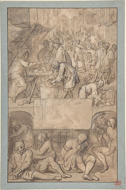 Study for a Title-Page: Allegory of Commerce and a Debtor's Prison (?)