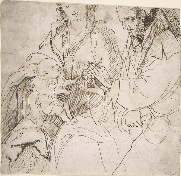 Virgin and Child with a Cleric