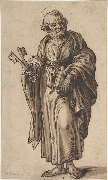 Fascinating Historical Picture of Ludolf Bsinck with Saint Peter in 1610