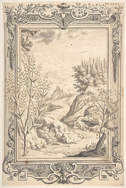 Landscape with Ornamental Frame