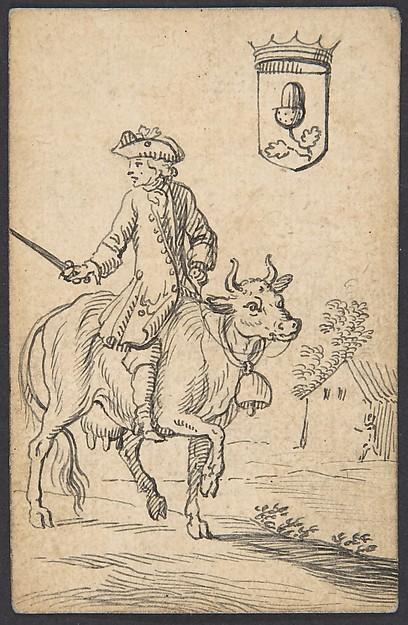 Acorn King: A Man Astride a Cow